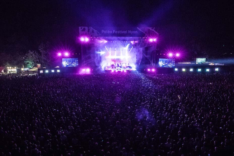 Concert Gorillaz (© Photo Paléo/Nicolas-Patault)