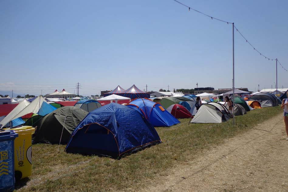 Une vue du camping
